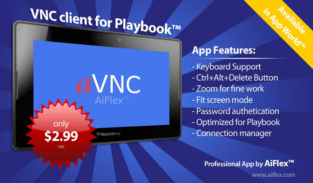 aVNC for playbook™